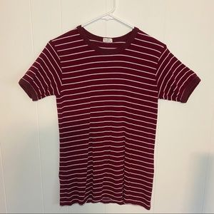 Brandy Melville Striped Red Tunic T shirt